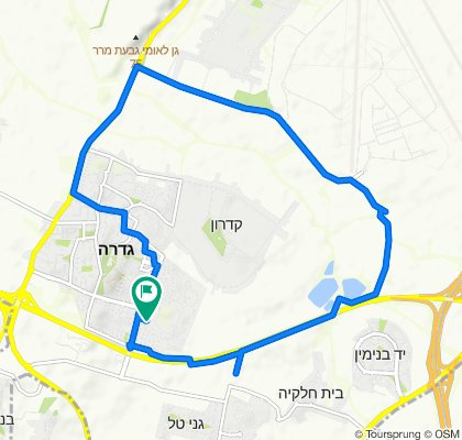Route to שיטה 1, גדרה