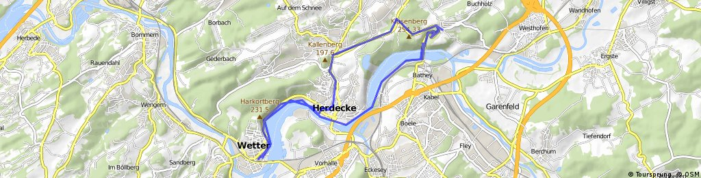 Wetter Route