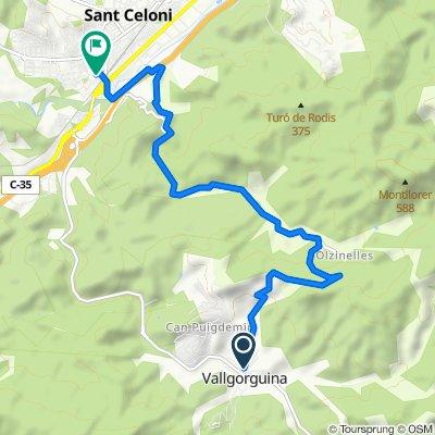 Ruta constante en San Celoni