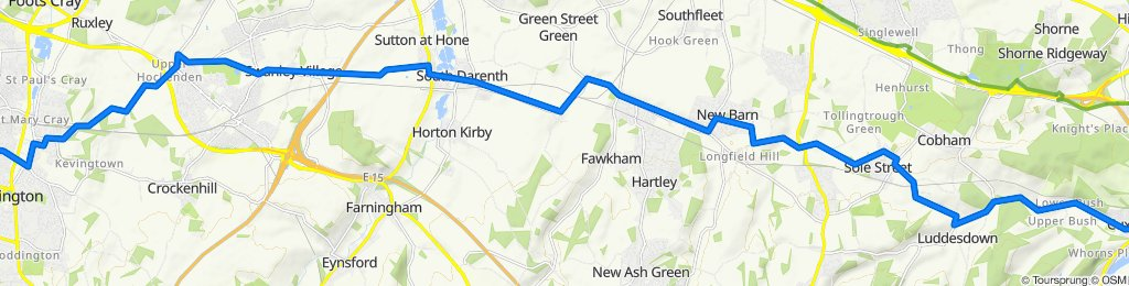 189 Poverest Road, Orpington to 28–30 Station Road, Rochester