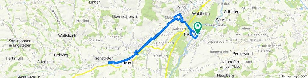 Gerade Fahrt in Amstetten