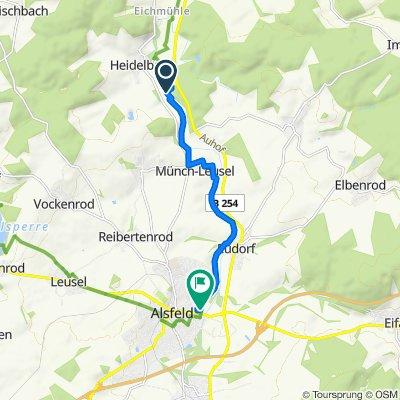 Gerade Fahrt in Alsfeld