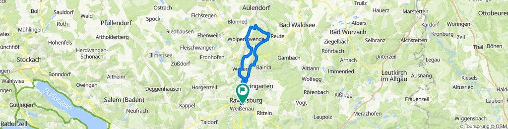 Ravensburg - Münchenreute - Wolpertswende - Runde