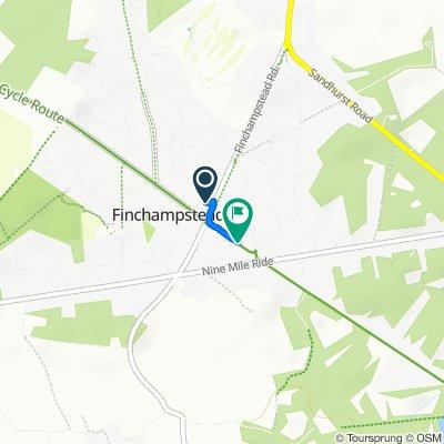 377A Finchampstead Road, Wokingham to 19 Windsor Ride, Wokingham