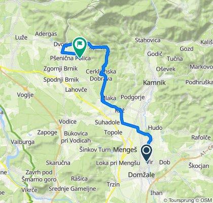 Domžale-Šenturška gora-Jenkova lipa