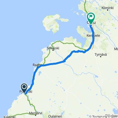 Kiiskiläntie 79–91, Pyhäjoki to Kirkkokatu 13, Oulu