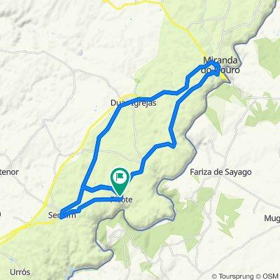 Moderate route in Picote