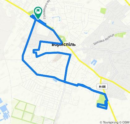 Спокойный маршрут в Борисполь