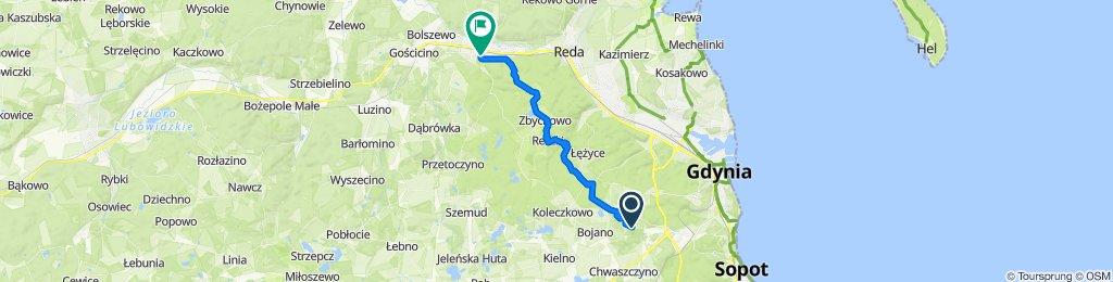 Łanowa 21S, Gdynia do Plac Wejhera 8, Wejherowo