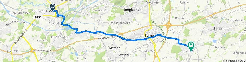 Gemütliche Route in Kamen