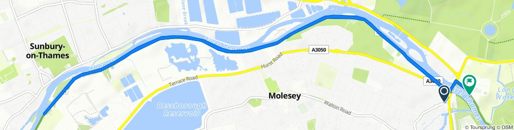 Restful route in East Molesey