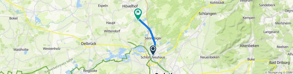 Einfache Fahrt in Hövelhof