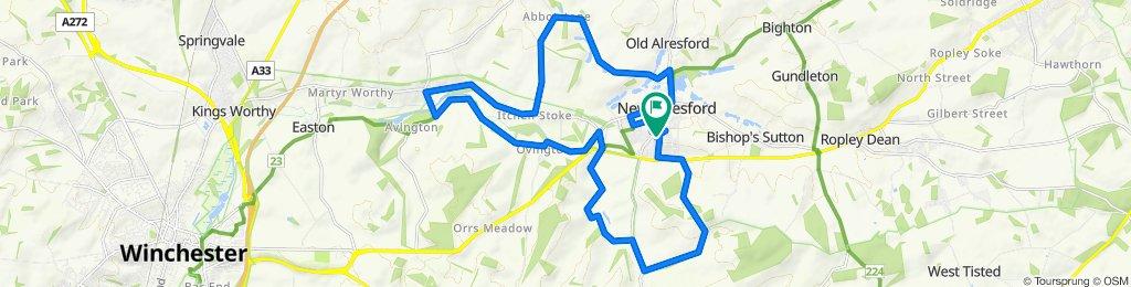 Blistering ride in Alresford