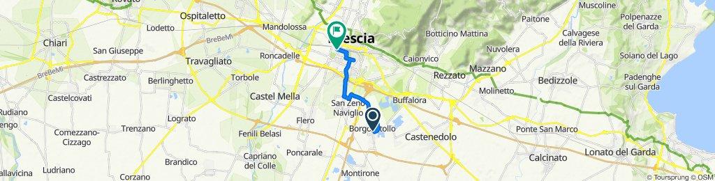 Da Via Giordano Bruno 20, Borgosatollo a Via Zara 12/14, Brescia