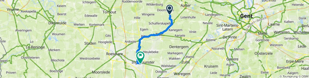 Bruggesteenweg 46a, Ruiselede to Gentseheerweg 162, Ingelmunster