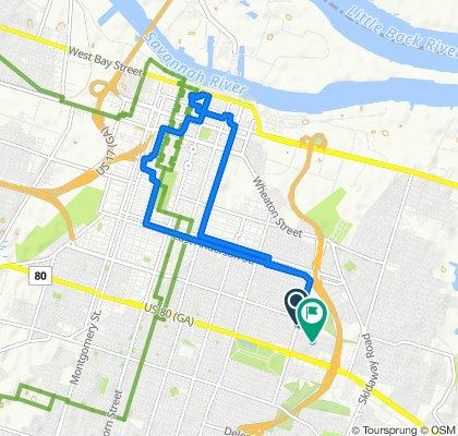 1624 E 38th St, Savannah to 101 Hibiscus Ave, Savannah