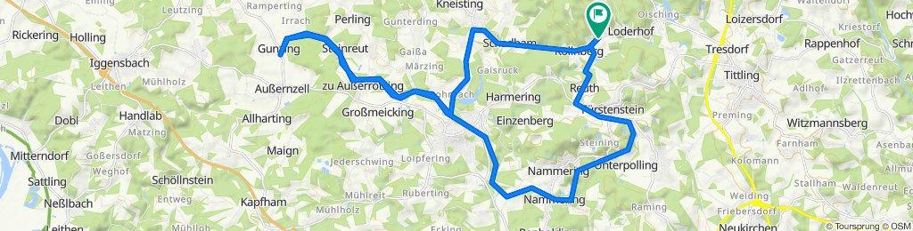 Sportliche Route in
