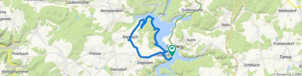 Gerade Fahrt in Saalburg-Ebersdorf