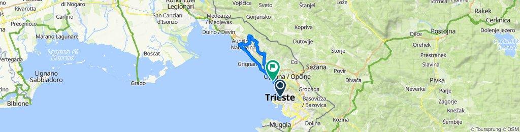 Percorso rilassato in Trieste