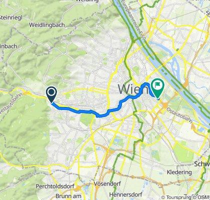 Gemütliche Route in Wientalradweg