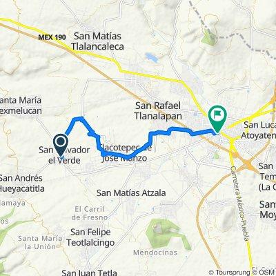 Ruta constante en San Martín Texmelucan de Labastida