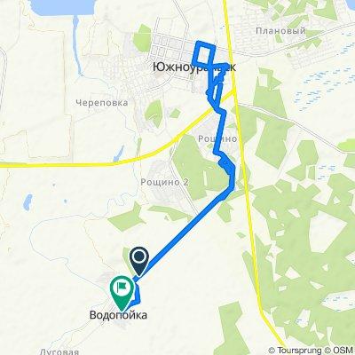 От улица Hабережная, Водопойка до Юбилейная, Водопойка