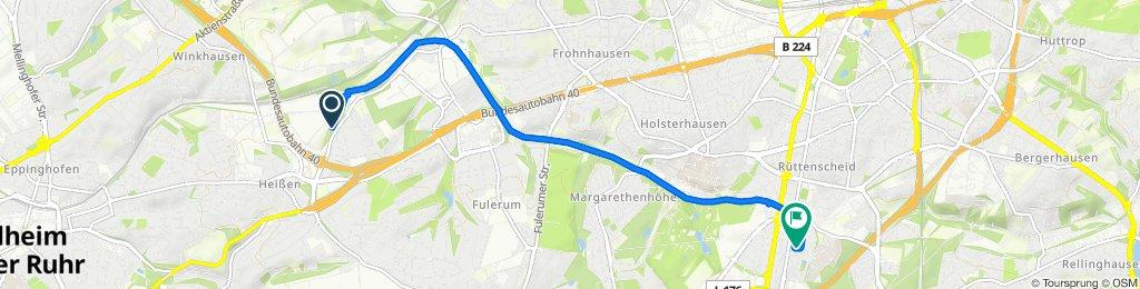 Langsame Fahrt in Essen