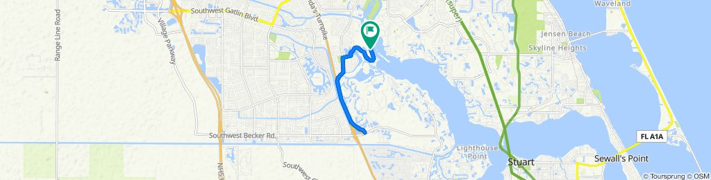 Restful route in Port Saint Lucie