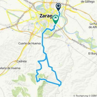 Zaragoza-Torrecilla-Valmadrid-Montañes