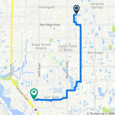 3313 W Forest Lake Cir, Sarasota to 2208 Gulf Gate Dr, Sarasota