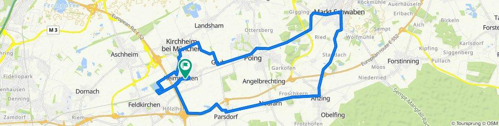 Sportliche Route in Kirchheim bei München