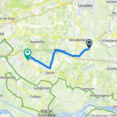 Supersnelle route in Driebergen-Rijsenburg