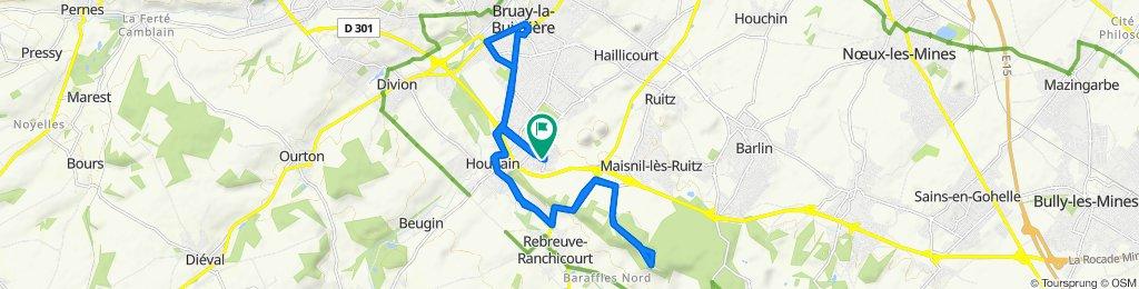 9 Rue des Chênes, Houdain to 9 Rue des Chênes, Houdain