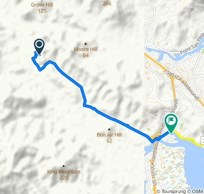 26 El Camino Bueno, Ross to E Sir Francis Drake Blvd, Larkspur