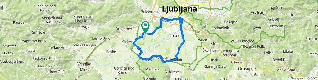 Vnanje gorice - Podpec - Matena - LJ - Vic - VG