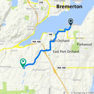 Perry Avenue North 455, Port Orchard to Southwest Kenmore Court 4840, Port Orchard