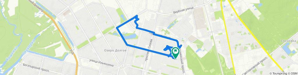 От проспект Королёва 2, Санкт-Петербург до проспект Королёва 2, Санкт-Петербург