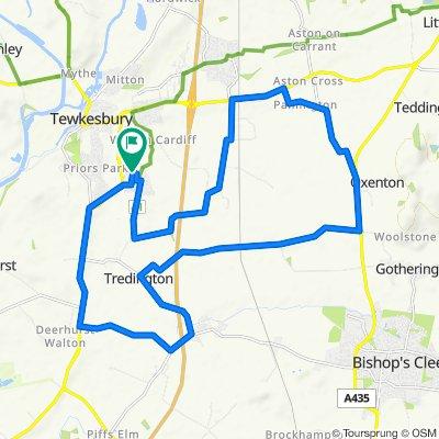 High-speed route in Tewkesbury