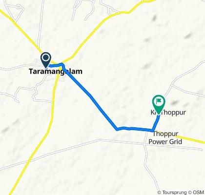 Tharamangalam Main Road to Unnamed Road, K.R. Thoppur