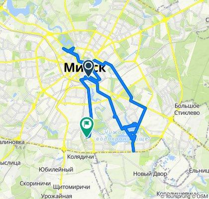 От ст. м. Первомайская, Минск до улица Шпилевского 57, Минск