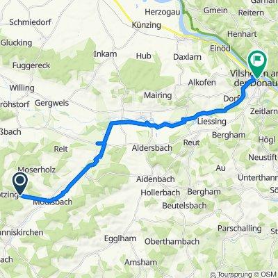Unterbubach 7, Johanniskirchen nach Kirchplatz 2, Vilshofen an der Donau