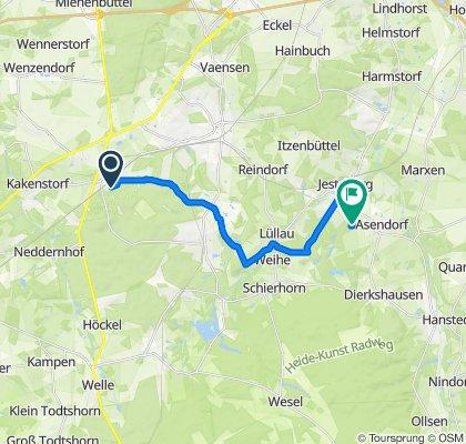 Sprötze bis Asendorf Nebenstrecke