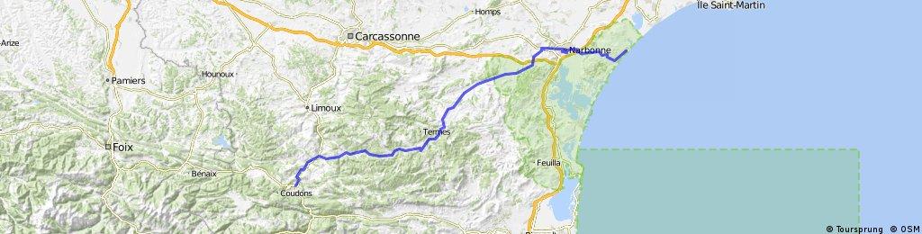 Vom Atlantik zum Mittelmeer; 9. Etappe Quillan : Saint-Piérre-la-Mer