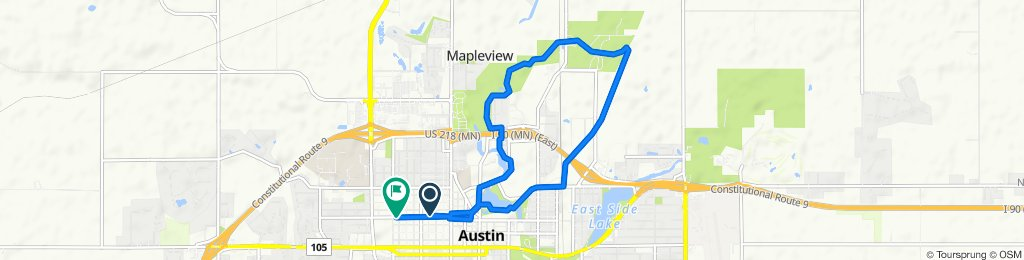 708 Fourth Ave NW, Austin to 411 11th St NW, Austin