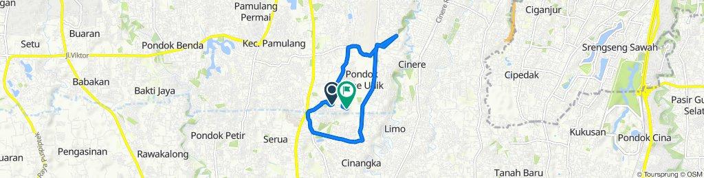 Jalan Kemiri VII 41, Kecamatan Pamulang to Jalan Kampung Simprug 18, Kecamatan Pamulang