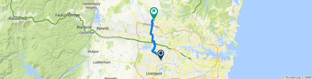 366 The Horsley Drive, Fairfield to 10 Dungara Crescent, Stanhope Gardens