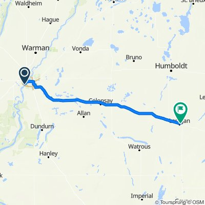 1030402 3of12 SK - 04b Saskatoon, SK to Lanigan, SK (Lanigan Campground) 130km