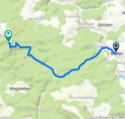 Gemütliche Route in Abtsgmünd
