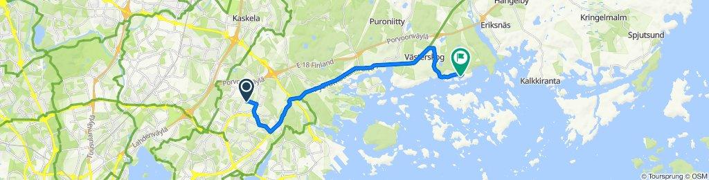 Keihästie 34, Vantaa nach Rantakyläntie 19, Sipoo
