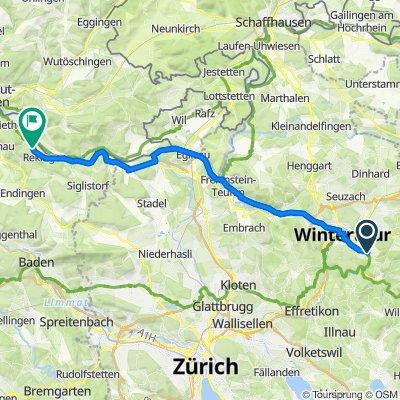 Gerade Fahrt in Zurzach